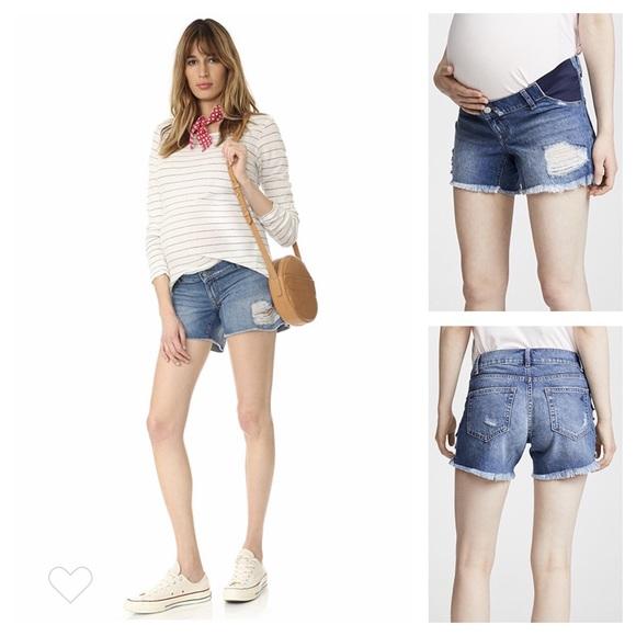 a7f19a1b6a DL1961 Shorts | Karlie Distressed Maternity Jean | Poshmark